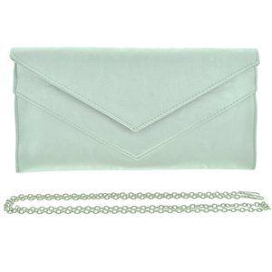 Silver Leatherette Evening Bag